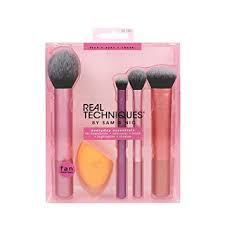 real techniques everyday essentials makeup brush plete face set miracle plexion sponge expert face