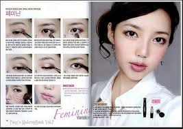 there are a lot of ulzzang makeup tutorial pictures which you can find by searching this is for those who can t find tutorial pictures