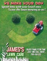 Free Lawn Mowing Flyer Template Create Lawn Care Business Flyers Its Easy Postermywall
