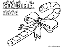 Candy Cane Coloring Pages Enjoy Coloring