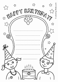 Dltk's crafts for kids printable birthday cards (envelopes included). Coloring Birthday Cards For Teachers Hat Cake Printable Sister Adult Greeting Happy Pages Fun New Year Funny Sheets Golfrealestateonline