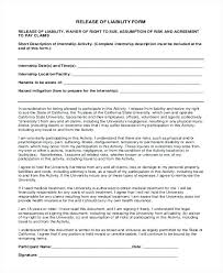 Personal Property Liability Release Form Template Definition ...