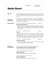 Preschool Assistant Teacher Resume Sample