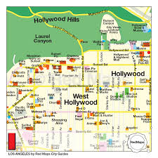 los angeles city guide by red maps