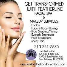 grand opening for featherline transformations spa makeup services