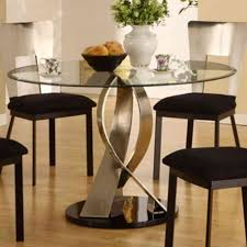Unique Kitchen Table Furniture Unique Round Glass Kitchen Table Set Wonderful Glass