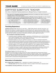 7 Substitute Teacher Resume Self Introduce