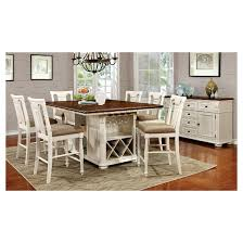 counter height table with storage throughout charming sun pine 7pc country set plan 9