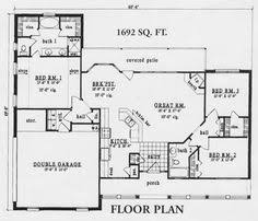 Small Picture Ranch House Plan 45494 Ranch house plans Ranch and Cabin floor