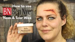 how to use nose wax by ben nye special effects makeup tutorial fx wax wound wax