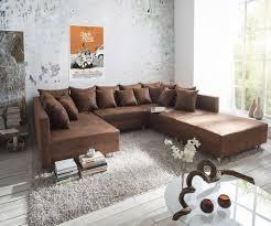 Couch Clovis Braun Antik Optik Mit Hocker Wohnlandschaft Modulsofa
