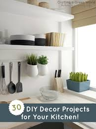 Diy kitchen projects Shelf 30 Diy Decor Projects For Your Kitchen Crafting Green World 30 Diy Decor Projects For Your Kitchen Crafting Green World