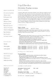 Substitute Teacher Resume No Experience Noxdefense Com