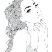 beautiful girl coloring pages. Unique Girl Pretty Girl Coloring Pages Beautiful Stock Vector Illustration Of Beauty  Download  Intended Beautiful Girl Coloring Pages