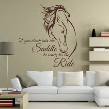 horse riding wall decal quote vinyl art if you climb into the saddle be ready for the ride horse decor wall sticker in wall stickers from home garden on  on wall art pictures of horses with horse riding wall decal quote vinyl art if you climb into the saddle