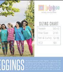Tc Lularoe Size Chart Lularoe Nwt Leggings Tall Curvy Tc 12 18 Black White