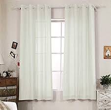 Window Treatments Ideas For Living Room Beauteous Amazon RLANG Solid Grommet Top Faux Linen Window Panels For