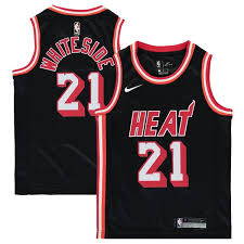 Hardwood Miami Classics Jersey Hassan Whiteside Youth Heat Nike Black Swingman|Aug 17, 2019