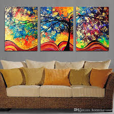 2018 unframe wall art colourful trees canvas painting wall art spray painting home decor printings pictures for living room from homecanvasart  on home wall art painting with 2018 unframe wall art colourful trees canvas painting wall art spray