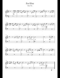 Fur elise piano sheet music roblox easy. Fur Elise On Piano Sheet Music Easy Advance Sheet Music Cute766