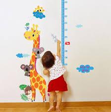 Giraffe Growth Chart Kids Stickers