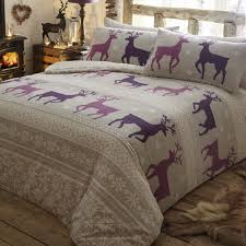 helsinki plum brushed cotton quilt covers
