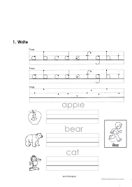 Free Worksheets » Reading And Writing Worksheets For Kindergarten ...