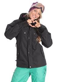 Ocean Earth Blue Bird Jacket Snowboard Jacket For Women Black