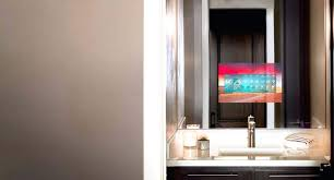 tv in mirror in bathroom mirror become one tv in bathroom mirror cost tv in mirror in bathroom