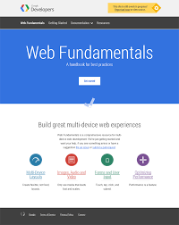 google home page design. google web fundamentals home page design