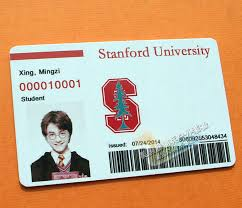 States Student United Campus Card Props University Personalized Custom Entertainment Stanford Pvc
