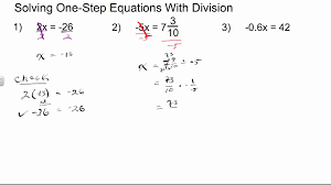 one step equations multiplication and division worksheet answers
