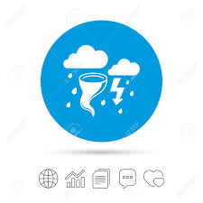 Gale Stock Chart Storm Bad Weather Sign Icon Clouds With Thunderstorm Gale Hurricane
