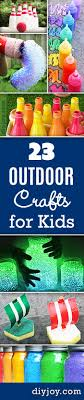 fun outdoor crafts for kids summer crafts ideas for kids to make at home and