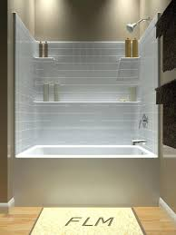 bathtub insert for shower its been so difficult to find an attractive one piece acrylic or fiberglass tub shower enclosure love the storage in this unit a
