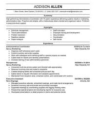 Best Administrative Coordinator Resume Example Livecareer