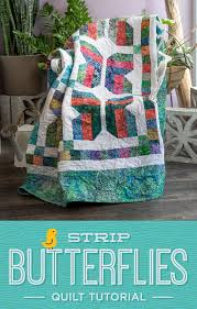 New Friday Tutorial: Easy Strip Butterflies Quilt &  Adamdwight.com