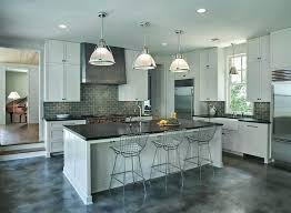 dark grey kitchen cabinets gray with black light subway tile white countertops