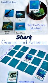 shark activities for kids printables natural beach living