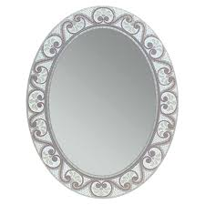 oval mirror frame. Deco Mirror 23 In. X 29 Earthtone Mosaic Oval Frame