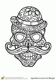Coloriage Cr Nes En Sucre Du Mexique Sur Hugolescargot Int Rieur