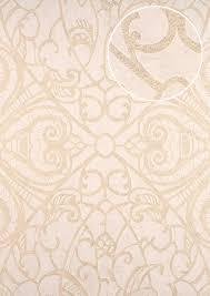 Barok Behang Atlas Cla 597 5 Vliesbehang Glad Met Grafisch Patroon