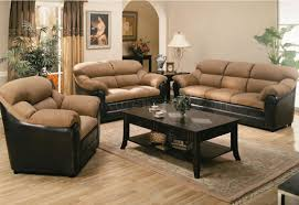 Two Piece Living Room Set Two Tone Mocha Contemporary Living Room 501881n