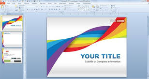 Free Rainbow Dna Powerpoint Template Free Powerpoint Templates