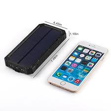 Solar Charger Charger, The 0ne Portable 12000mAh External Battery Pack