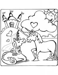 this picture of unicorns in love from super coloring pages is a simpler drawing sure to please kids it is so cute i couldn t resist