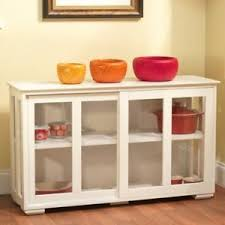 buffet with glass doors. Image Is Loading White-Sideboard-Buffet-Sliding-Glass-Doors -Adjustable-Shelves- Buffet With Glass Doors U
