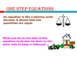 3 review one step equations