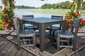 44 island dining table set patio