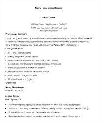 Example Of Housekeeping Resume Ellseefatih Com